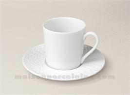 TASSE CAFE UNIE+SOUCOUPE MANHATTAN 6X6 D12 12CL