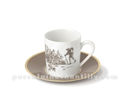 TASSE CAFE+SOUCOUPE LIMOGES EMPIRE 10CL