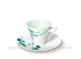 TASSE CAFE+SOUCOUPE LIMOGES HAUSSMANN 10CL