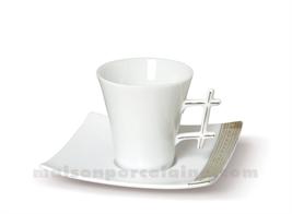 TASSE CAFE+SOUCOUPE LIMOGES OXYGENE 10CL