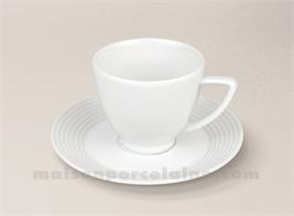 TASSE CAFE+SOUCOUPE PORCELAINE BLANCHE ZEBRA