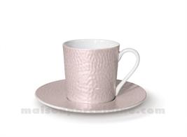 TASSE CAFE+SOUCOUPE REVES D'OPALINE 5X7 9CL - CARAMEL