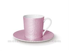 TASSE CAFE+SOUCOUPE REVES D'OPALINE 5X7 9CL - PRALINE