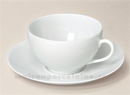 TASSE DEJEUNER+SOUCOUPE PORCELAINE BLANCHE LIMOGES ENVIE 35CL7X18 35CL
