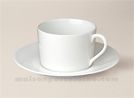 TASSE THE EMPIRE+SOUCOUPE PORCELAINE BLANCHE SOLOGNE 20CL