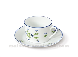 TASSE THE+SOUCOUPE LIMOGES EMPIRE 20CL