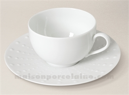 TASSE THE+SOUCOUPE PATE EXTRA BLANCHE LIMOGES SANIA 20CLT)T)T)