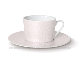 TASSE THE+SOUCOUPE REVES D'OPALINE 8.5X8 20CL -  NOISETTE