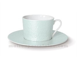 TASSE THE+SOUCOUPE REVES D'OPALINE 8.5X8 20CL - AMANDE