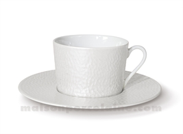 TASSE THE+SOUCOUPE REVES D'OPALINE 8.5X8 20CL - Perle
