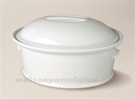 TERRINE OVALE PORCELAINE BLANCHE A FOUR N°3 27X20 2.22L