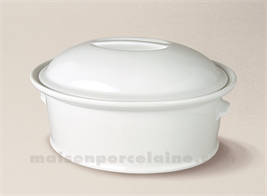 TERRINE OVALE PORCELAINE BLANCHE A FOUR N°5 24X18 1.7L