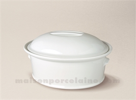 TERRINE OVALE PORCELAINE BLANCHE A FOUR N°8BIS 17X12 75CL