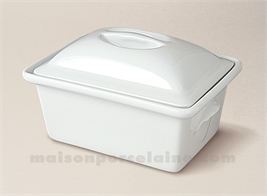 TERRINE RECTANGULAIRE PORCELAINE BLANCHE A FOUR N°4 22X16 1.65L