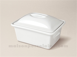 TERRINE RECTANGULAIRE PORCELAINE BLANCHE A FOUR N°6 19X13 1.05L