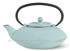 THEIERE FONTE - PLATE PICOTS TURQUOISE H8,5-21X17CM 80CL