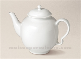 THEIERE PORCELAINE BLANCHE LIMOGES CHANTILLY 60CL