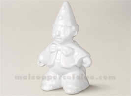 TIRLIRE PORCELAINE DE LIiMOGES CLOWN H22-15X12CM