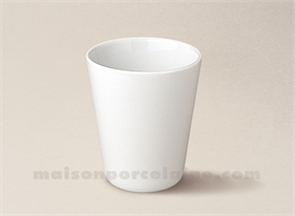 VERRE THE CONIQUE PORCELAINE BLANCHE 8X7 16CL