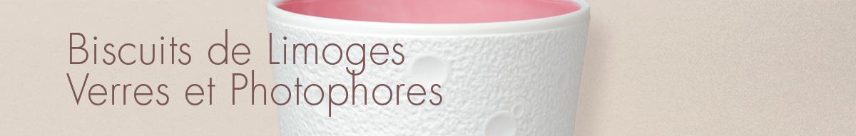 Biscuits de Limoges, Verres et Photophores