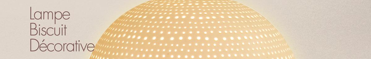 Lampe Biscuit Motif  Décoratif