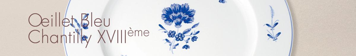 Oeillet Bleu Chantilly XVIIIème