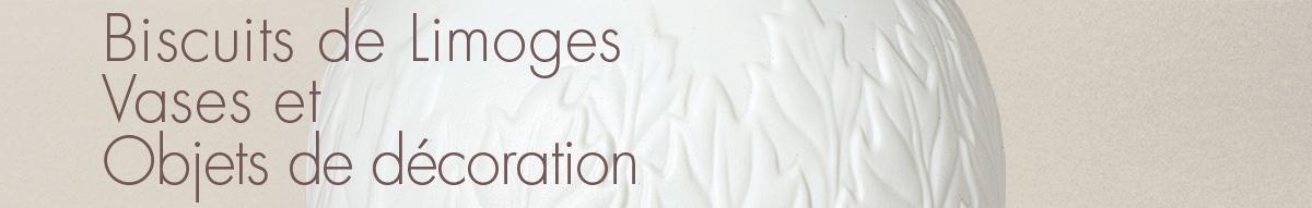 Biscuits de Limoges, Vases et Objets de décoration