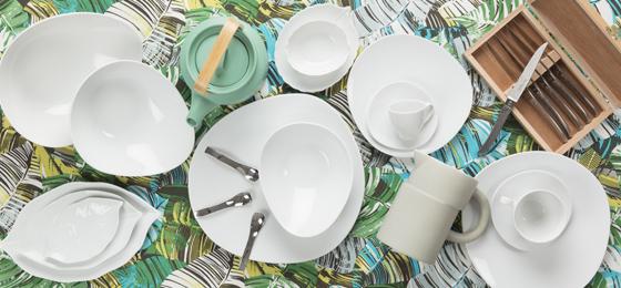 Assiette Servier Assiette suppléments plaque porcelaine Plaque environ 26 cm rectangulaire blanc